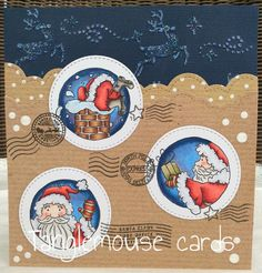 tanglemouse cards: When Santa Got Stuck Up The Chimney...