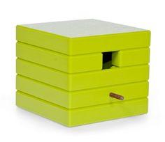 nichoir à oiseaux design vert