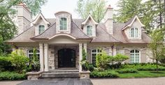 {{pic 2 of Old Oakville - Front Entry (Exterior) - traditional - exterior - toronto - David Small Designs French Country Exterior, French Country House, Style At Home, Tudor House, Traditional Exterior, Custom Home Designs, House Goals, Cottage Homes, Architecture Details