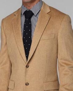 Michael Michael Kors Jacket Solid Camel Hair Sportcoat Big and