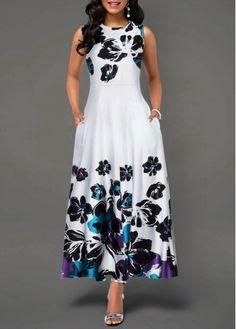 Large Size Elegant Women's Floral Print Long Maxi Dress Evening Party Beach Dress Summer Sleeveless Long Flower Sundress Costume Source by Dresses evening Women's Fashion Dresses, Casual Dresses, Maxi Dresses, Fashion Clothes, Clothes Women, Women's Casual, Dress Prom, Trendy Dresses, Casual Summer