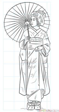 How To Draw A Japanese Geisha