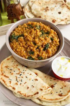 Vegetarian Recepies, Vegan Recipes, Cooking Recipes, Naan, A Food, Good Food, Healthy Snacks, Healthy Eating, International Recipes