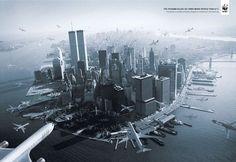 """La pub de WWF choc qui a tant fait parler par le passé : """"Le tsunami a tué 100 fois plus de personnes que le 11 septembre."""""""