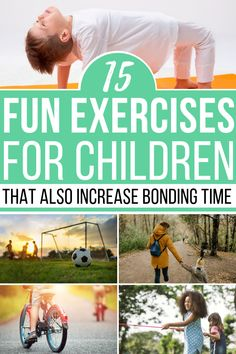 Learning how to enjoy fun exercises for kids with the kids will not only be great for your health it's a great bonding time! These are great exercises for preschoolers and toddlers! Motor Activities, Physical Activities, Family Activities, Health Activities, Dementia Activities, Fun Exercises, Fun Workouts, Interactive Learning, Kids Learning