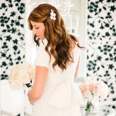 Soft Curls for Wedding Hairstyle // Honey Honey Photography