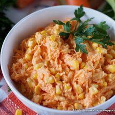 Surówka Karotka Coleslaw, Grains, Good Food, Rice, Salads, Coleslaw Salad, Seeds, Healthy Food, Cabbage Salad