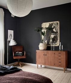 Dark And Characterful Bedroom   Via Coco Lapine Design Blog