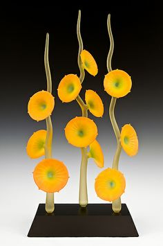Seeds Flowering Forever: Warner Whitfield: Art Glass Sculpture