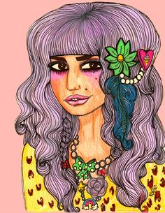 love this Valfre illustration of Audrey Kitching...so cute
