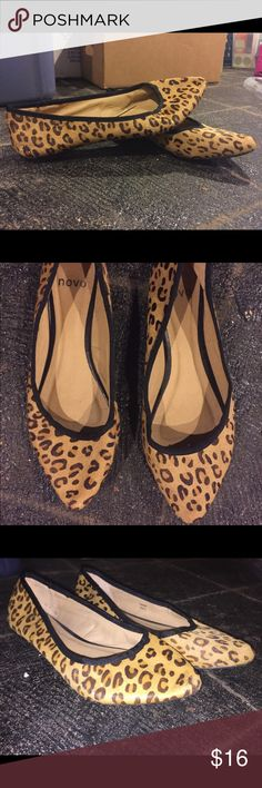 Cheetah flats Pointed toe cheetah patterned flats.. worn only once, new condition Shoes Flats & Loafers