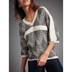 Buy Sita Murt Chevron Textured Jumper, Black/White Online at johnlewis.com