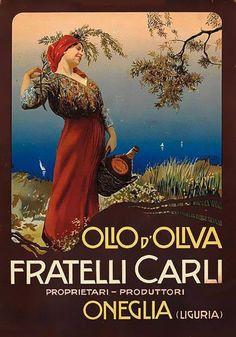 VINTAGE 유 con FRATELLI CARLI olio d'oliva - Onelia (Liguria) poster pubblicitario storico di un Classico Prodotto Agroalimentare Italiano, illustrato nel 1910 da Mario Borgoni (Pesaro1869 – Napoli 1931) è stato un famoso pittore, illustratore, grafico, figurinista e pubblicitario. #ProdottiTipici #PiattiItaliani #PiattiTipiciRegionali #CiboItaliano #ItalianFood #FoodLovers #FoodLove #FoodPassion #Gourmet #Foodie #FoodBlogger #CarnevaliLuigi https://www.facebook.com/IlBuongustaioCurioso/