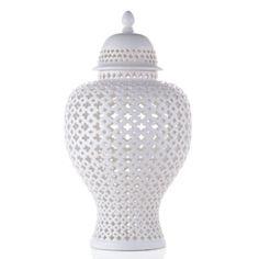 Ceramic Filigree Jar from Z Gallerie