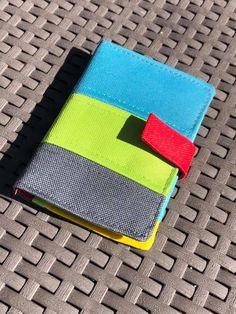 Portefeuille Compère multicolore cousu par Maëlle - Patron Sacôtin