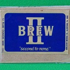 "One Vintage Horlacher Brewing (1933-1978) ""Brew II"" 12-Ounce Beer Label"
