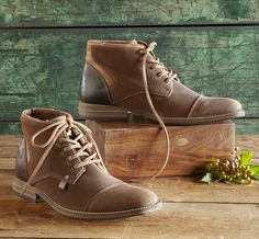 Kingston Lace-Up Shoes - lace-up, waxed suede and leather shoes.