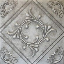 R 02 Styrofoam Ceiling Tile 20x20 - Antique Silver~So doing this!  Love it