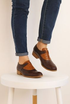 Brown shoes , Womens Leather shoes lace up , handmade ADIKILAV On sale 30% off