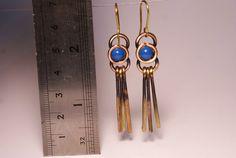 copper earring copper jewelry wire wrapped jewelry by BeyhanAkman