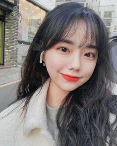 Korean Hairstyles Women, Redhead Hairstyles, Asian Men Hairstyle, Modern Hairstyles, Hairstyles With Bangs, Japanese Hairstyles, Asian Hairstyles, Haircuts Straight Hair, Korean Bangs