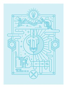 IAPI illustrations by Markus Magnusson, via Behance