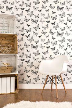 Papeles Pintados de Mariposas ideales para decorar cualquier pared, ya sean recibidores, sales de estar, habitación de matrimonio, o bien habitaciones infantiles o juveniles, gracias a sus tonos neutros y la belleza de su diseño es un producto de una gran versatilidad.