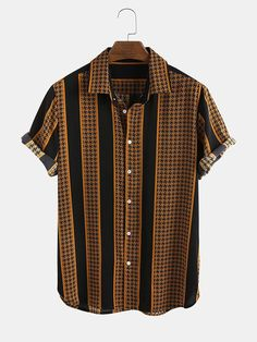 Summer Wear, Spring Summer, Casual Shirts For Men, Men Casual, Fashion Vocabulary, Color Yellow, Shirt Ideas, Supreme, Size Chart