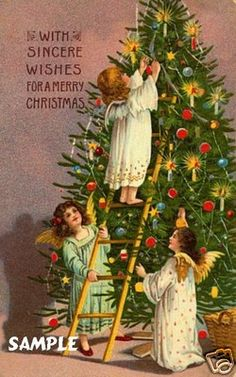 Old Christmas Post Cards — Old Time Christmas, Christmas Post, Old Fashioned Christmas, Christmas Angels, Christmas Greetings, Christmas Trees, Merry Christmas, Vintage Christmas Images, Victorian Christmas