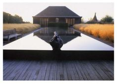 Ornamental grass, mirror pool - Piet Oudolf.