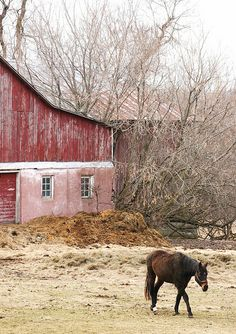 Just plain COUNTRY CHARM... Old red barn