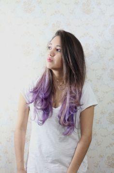LIVEANDSTUFF: ¡Nuevo look! Purple Ombre Hair