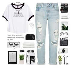 """thu, 24 sept 15"" by albarrurhezy96 ❤ liked on Polyvore featuring Denim & Supply by Ralph Lauren, H&M, Crate and Barrel, Polaroid, DKNY, Fieldcrest, Lomography, Linum Home Textiles, Pop Beauty and NARS Cosmetics"