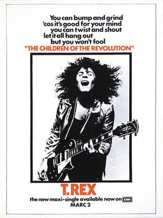 T. Rex : Children Of The Revolution advertisement. Once again Peter Robinson interweaves music into his novels.