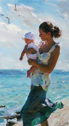 """Life Begins"", Michael and Inessa Garmash #painting"