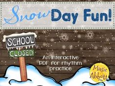 Snow Day Fun! {A Bundled Set for Rhythmic Practice}