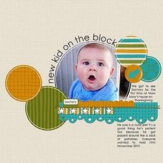Love the circle shapes and border - colors on neutral background