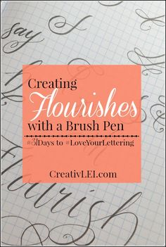 We introduced flourishes when we studied calligraphy with the broad nib. Now it's time to apply that art to the letters and words created with the brush pen. Adding decorative flourishes to creative lettering with a brush pen. You can start this exercise with a pencil to get your hand warmed up. Loopy swirls are ... Read more...