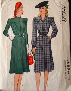 McCall 3889: Ladies' and misses' dress