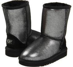 7cd4a599eaa UGG Classic Glitter (Toddler Little Kid) (Black) - Footwear on shopstyle