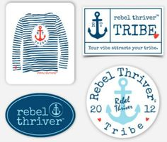 Rebel Thriver 4-Pack Sticker Set ⚓