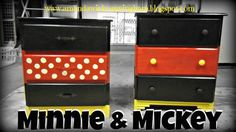 Mickey and Minnie Dressers DIY
