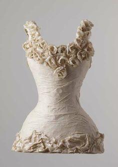 Fabric flower as decoration idea...? susan cutts