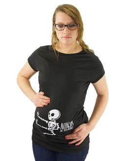 6bb8906d9253a Ninja in training Maternity T-Shirt Maternity Clothes Karate Top Baby Kicks  - side print