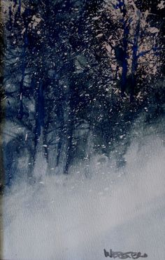 Untitled Winter Scene.  Watercolor on paper.  9X12  by William Webster
