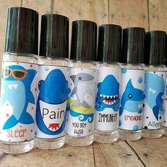 Essential Oil Labels Shark Labels For Roller Bottles