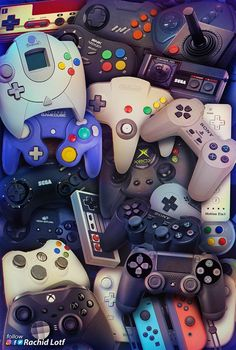 Consoles Controllers - Minecraft, Pubg, Lol and Ps Wallpaper, Game Wallpaper Iphone, Graffiti Wallpaper, Homescreen Wallpaper, Galaxy Wallpaper, Best Gaming Wallpapers, Dope Wallpapers, Retro Video Games, Video Game Art