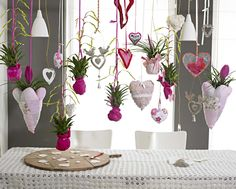 LOVE this bromeliads on air bromeliads and hearts= good combination