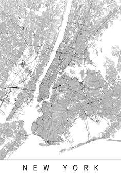 NEW YORK MAP – High Quality Giclee Print, Minimalist Manhattan Art Print, Customizable City Map, Modern Map Art - savtod. Love One Another Quotes, City Map Poster, Map Of New York, City Maps, Beautiful Textures, Cartography, Modern Wall Art, Wall Art Designs, Map Art