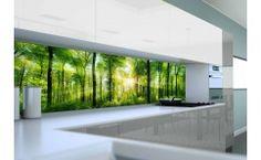 Panel szklany do kuchni SUN IN FOREST